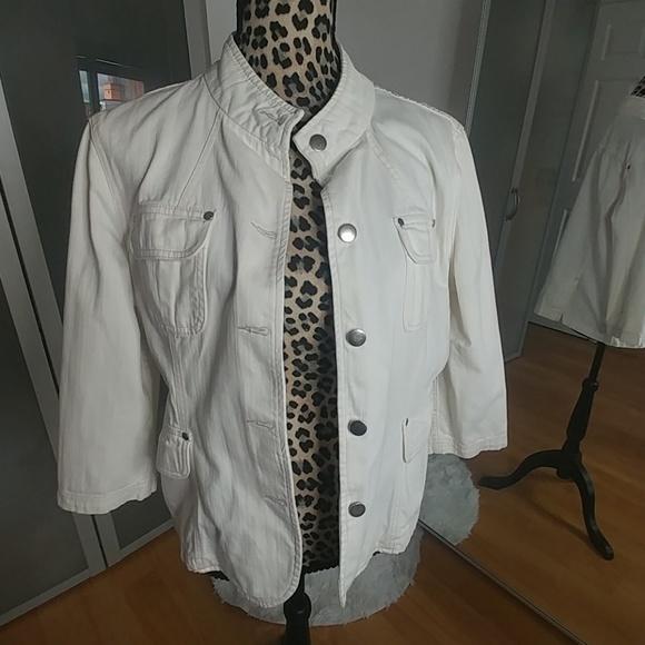 Mossimo Supply Co. Jackets & Blazers - White denim jacket